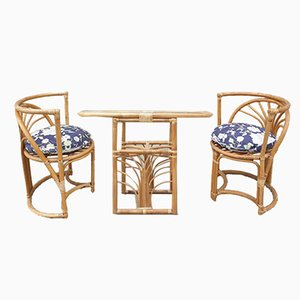 Italian Bamboo Chairs, 1960s, Set of 3