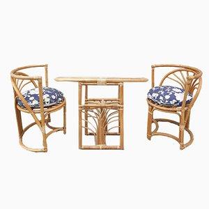 Italienische Bambus Stühle, 1960er, 3er Set