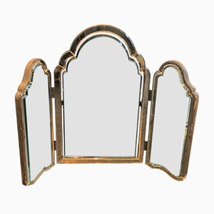 French Art Deco Triptych Vanity Mirror, 1930s