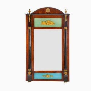 Espejo trumeau español antiguo de caoba y ormolu