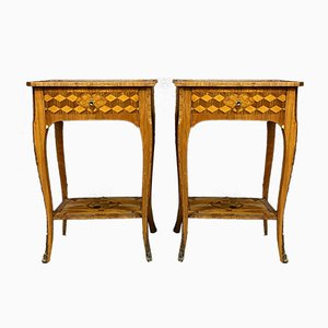 Louis XV Ceremonial Inlaid Tables, Set of 2