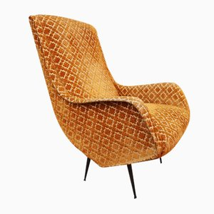 Lounge Chair with Iron Legs by Aldo Morbelli for ISA Bergamo, 1950s