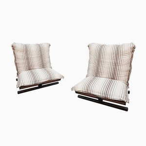 Butterfly Lounge Chairs by Roberto Lucci for Elam, 1970s, Set of 2