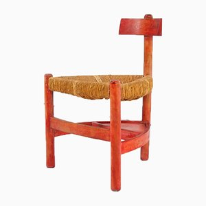 Vintage Church Chair by Wim den Boon, 1950s