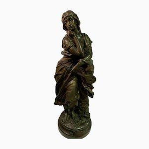 Antique Bronze Mignon Sculpture from Gaudez