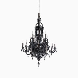 Lámpara de araña Gina de acero negro de Enzo Scibetta para MYOP