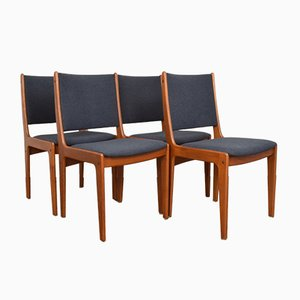 Mid-Century Danish Teak Dining Chairs by Johannes Andersen, 1960s, Set of 4