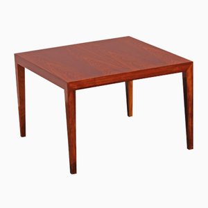 Square Rosewood Coffee Table by Severin Hansen for Haslev Møbelsnedkeri, 1977