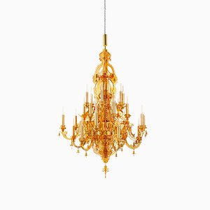 Gina 24 Carat Gold Plated Chandelier by Enzo Scibetta for MYOP