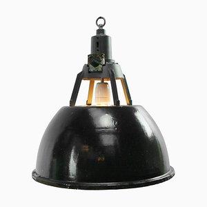 Lampada a sospensione vintage industriale nera
