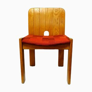 Solid Wood Side Chair with Sling Seat from Gavina, 1970s