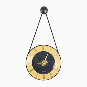 Mustard Wall Clock with Copper Parts