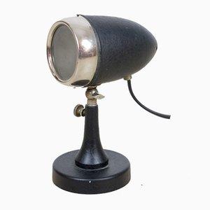 Vintage Small Black Microfon Table Lamp