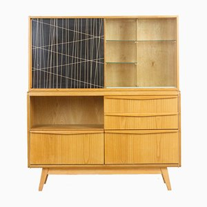Restored Wooden Sideboard by Bohumil Landsman for Jitona, 1960s