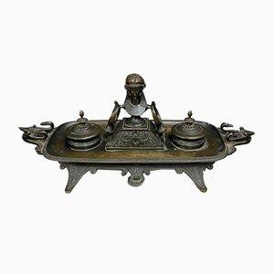 Empire Gilt Bronze Inkwell Set