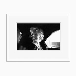 Marilyn Monroe in New York Taxi Cab Silver Gelatin Resin Print Framed in White by Ed Feingersh