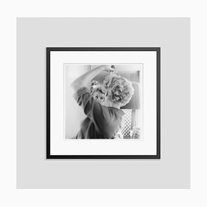 Marilyn Monroe Makes Up Silver Gelatin Resin Print Framed in Black by Hulton Archive