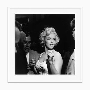 Marilyn Monroe Silver Gelatin Resin Print Framed in White by Murray Garrett