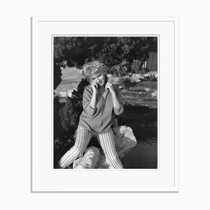 Marilyn Monroe Silver Gelatin Resin Print Framed in White by Baron