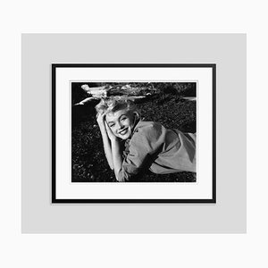Marilyn Monroe Silver Gelatin Resin Print Framed in Black by Baron