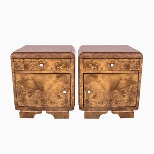 Art Deco Style Polish Bedside Tables, 1950s, Set of 4