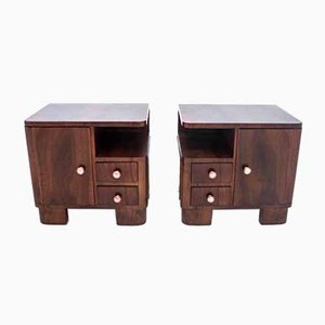 Art Deco Style Polish Bedside Tables, 1950s, Set of 2