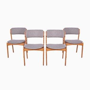 Modell 49 Eichenholz Esszimmerstühle von Erik Buch für Odense Maskinsnedkeri / OD Furniture, 1960er, Set of 4