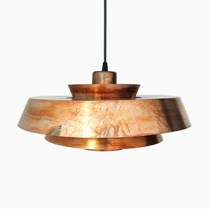 Mid-Century Danish Nova Pendant Lamp in Copper by Johannes Hammerborg for Fog & Mørup