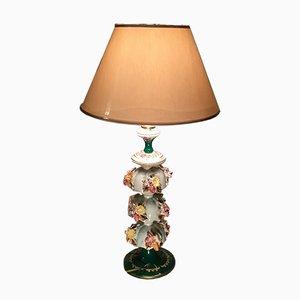 Porzellan Tischlampe, 1980er