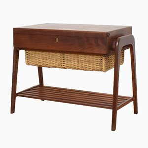 Mid-Century Danish Teak Sewing Table, 1960s.