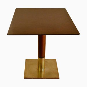 Square Dining or Card Table on Centre Base and Bronze Foot
