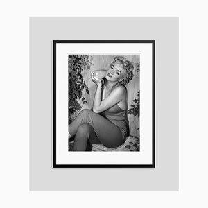Marilyn Monroe Relaxes in Palm Springs Silver Gelatin Resin Print Framed in Black by Baron