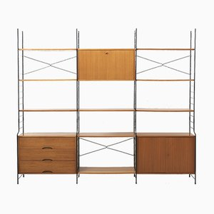 Freestanding Shelving System in Teak from WHB, 1960s