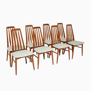 Dänische Vintage Teak Esszimmerstühle von Niels Koefoed, 1960er, 8er Set