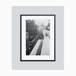 Marilyn Monroe on the Roof Silver Gelatin Resin Print Framed in Black by Michael Ochs Archives