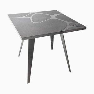 Filodifumo Ventura V1 Lava Stone & Steel Garden Table by Riccardo Scibetta & Sonia Giambrone for MYOP