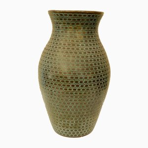 Large Engraved Ceramic Vase by Gastone Batignani, 1940s