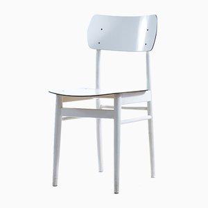 Tschechoslowakischer Mid-Century Stuhl aus Weißer Eiche & Formica von TON, 1960er