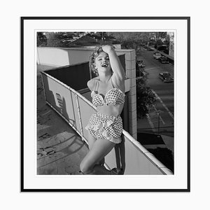 Marilyn Monroe in a Bikini Silver Gelatin Resin Print Framed in Black by Archive Photos
