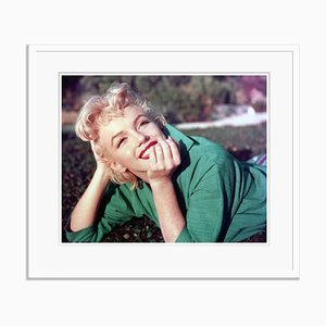 Marilyn Monroe Portrait Framed in White by Baron