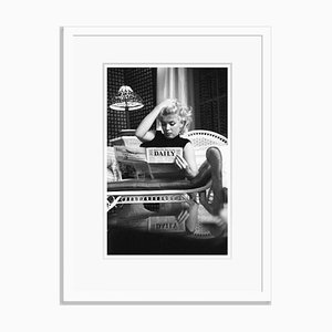 Marilyn Monroe Relaxes in a Hotel Room Silver Gelatin Resin Print Framed in White by Ed Feingersh