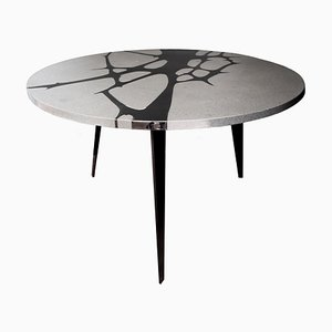 Filodifumo 1st Outdoor Table in Lava Stone & Steel by Riccardo Scibetta & Sonia Giambrone for MYOP