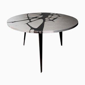 Filodifumo 1st Outdoor Tisch aus Lava Stein & Stahl von Riccardo Scibetta & Sonia Giambrone für MYOP