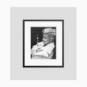 Marilyn Monroe Resting Silver Gelatin Resin Print Framed in Black by Ed Feingersh
