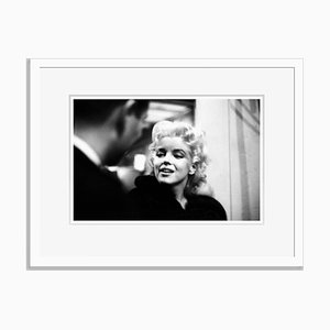 Marilyn Monroe Takes It to the Streets Silver Gelatin Resin Print Framed in White by Ed Feingersh