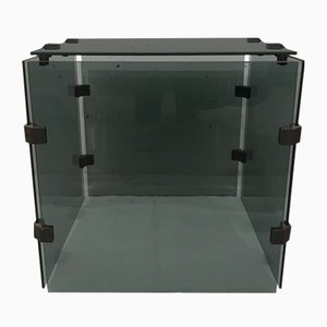 Tinted Glass Side Table, 1970s