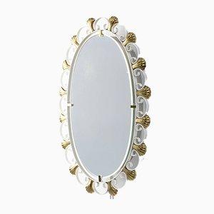 Metal & Brass Mirror by Egon Hillebrand for Hillebrand Lighting, 1960s