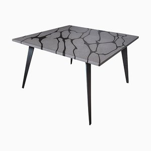 Tavolo da esterno Filodifumo 2nd in pietra lavica ed acciaio di Riccardo Scibetta & Sonia Giambrone per MYOP