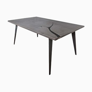 Filodifumo 3rd Outdoor Table in Lava Stone & Steel by Riccardo Scibetta & Sonia Giambrone for MYOP