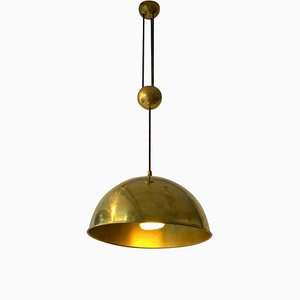 Mid-Century Brass Model Posa Pendant Lamp by Florian Schulz, 1970s